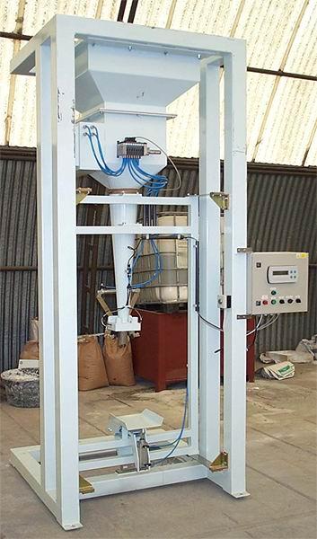 Plnička ventilových pytlů