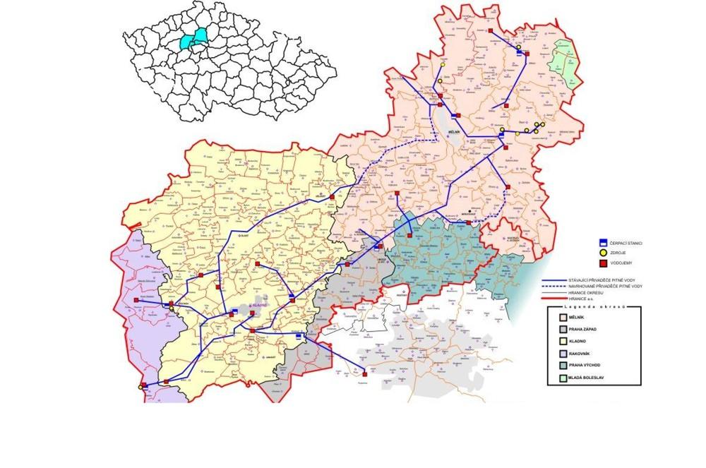Stredoceske vodarny a.s. Pitna voda pro Kladensko a Melnicko