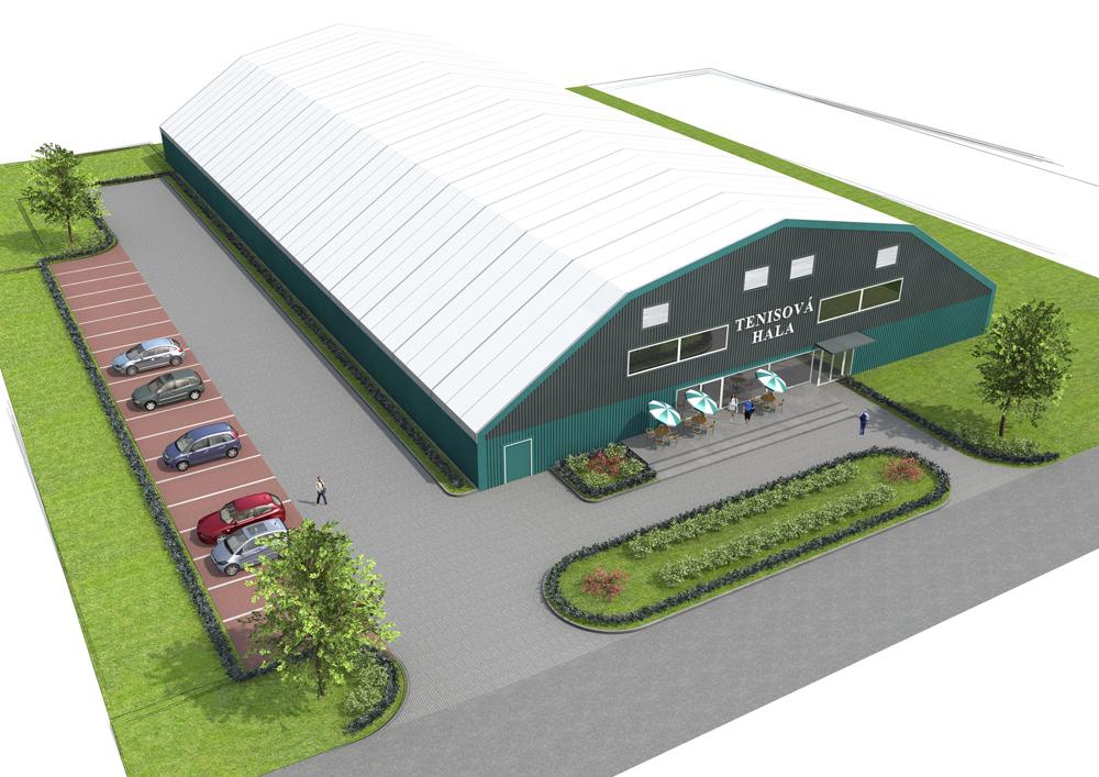 Pevná montovaná sportovní hala s ocelovou konstrukcí