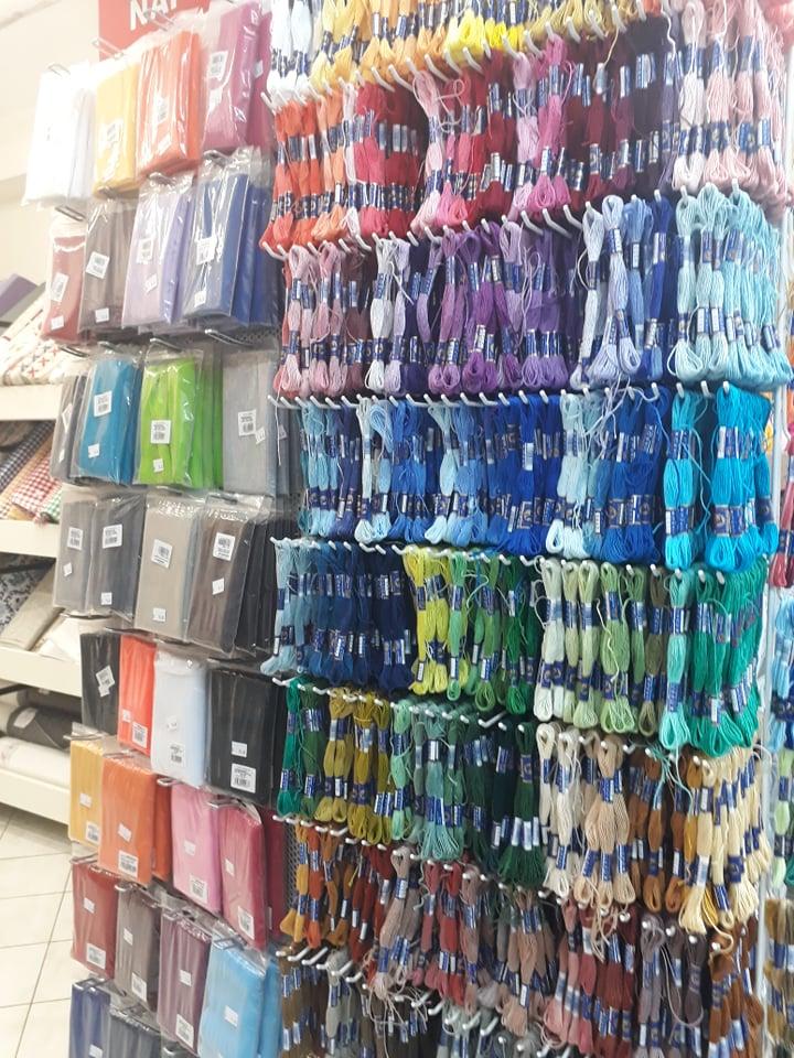 Textilní galanterie - nitě, bavlnky, příze, gumy, vycpávky