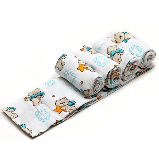 Kojenecký textil - bavlněné pleny, bryndáky, deky, osušky