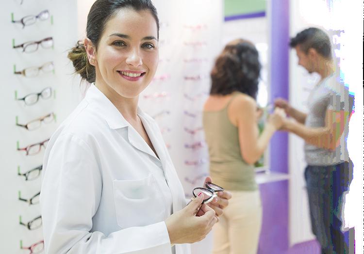 Vyšetření zraku a doporučení dioptrických brýlí či kontaktních čoček