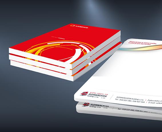 Grafické návrhy a zpracování - trhací bloky, kalendáře, brožury