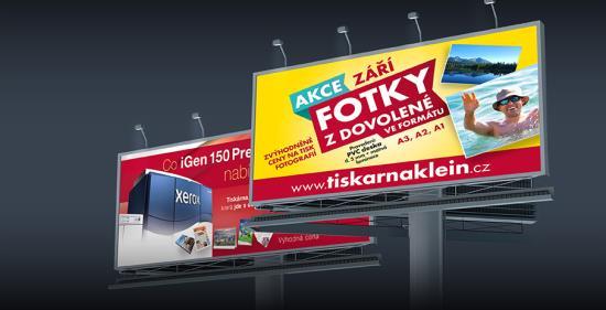 Velkoplošný tisk plakátů - tiskárna KLEINWÄCHTER Frýdek-Místek