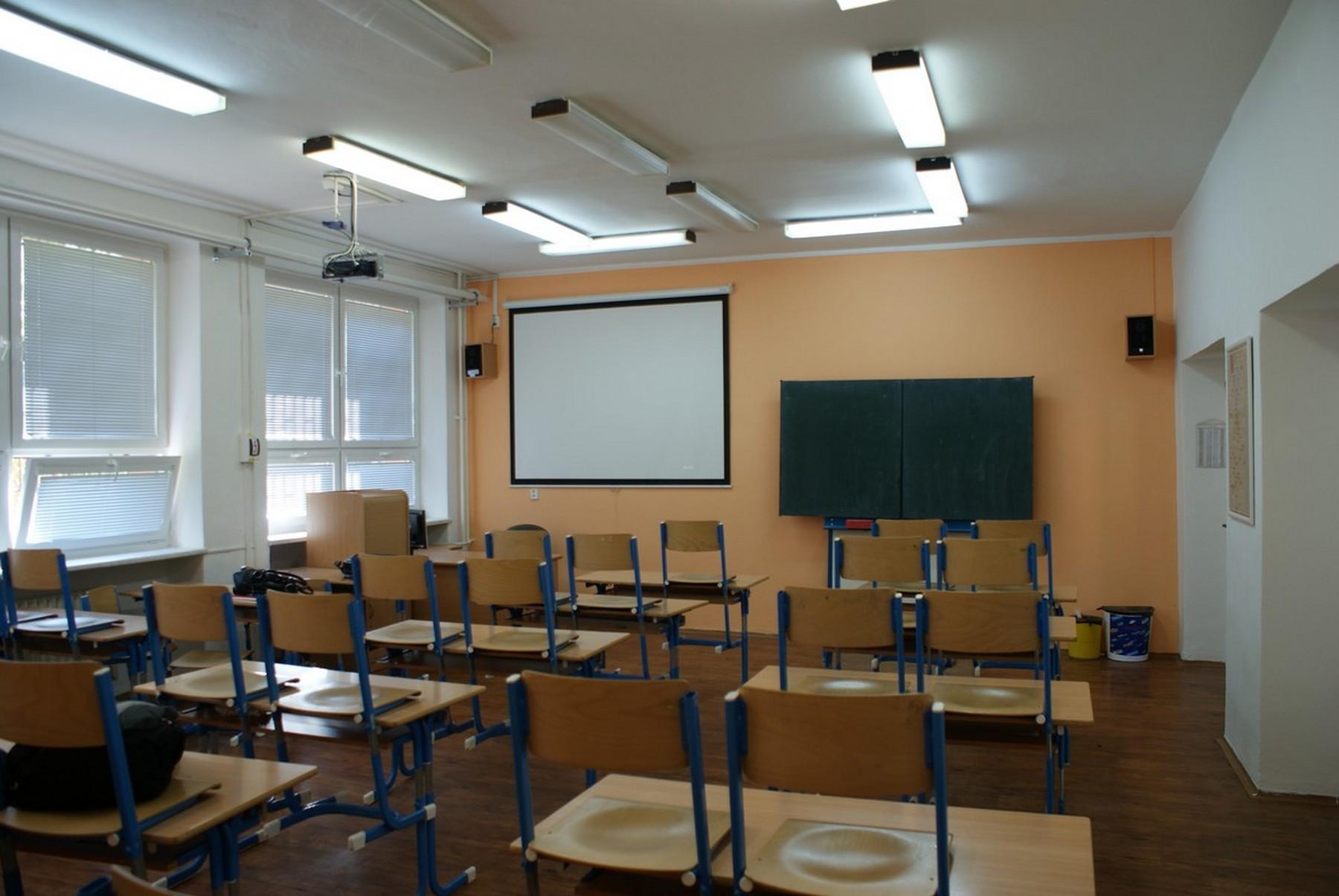 Učebna Obchodní akademie v Ostravě Mariánských-Horách