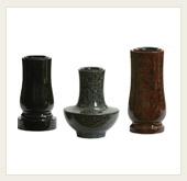 Hřbitovní vázy, kamenická tvorba - jižní Morava