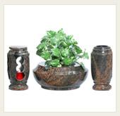 Náhrobní komplety - vázy, mísy, lucerny METAL GRANIT,