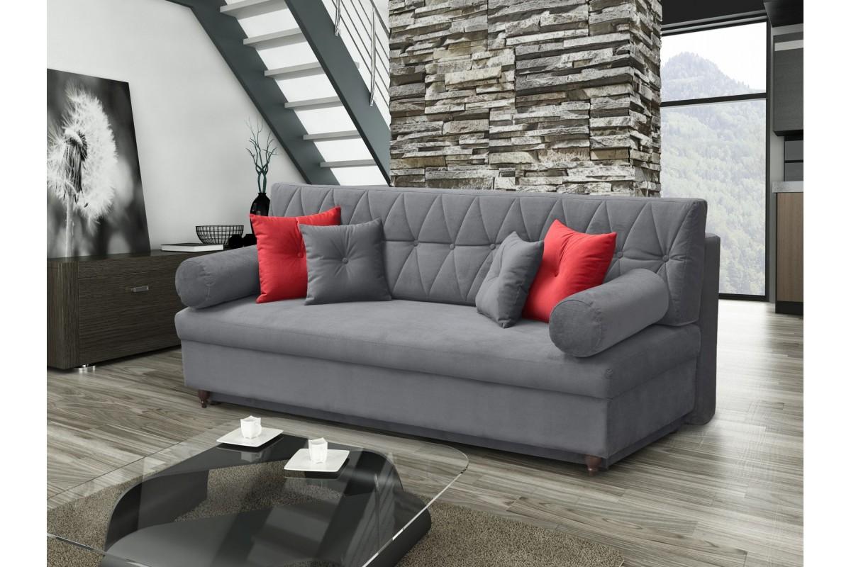Elegantní rozkládací čalouněná pohovka s plochou na spaní