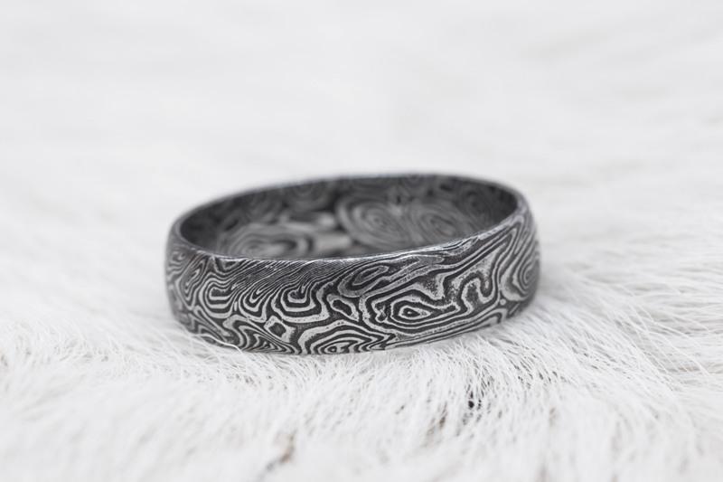Originální šperky z damascenské oceli na zakázku