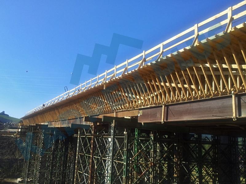 Výroba  příhradových ramenátů pro mostní bednění