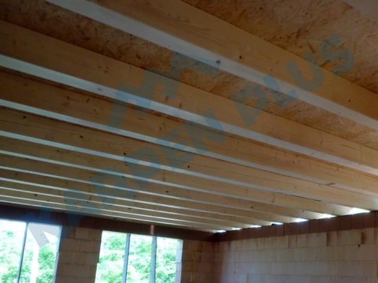 Výroba dřevěných polotovarů, stropní konstrukce