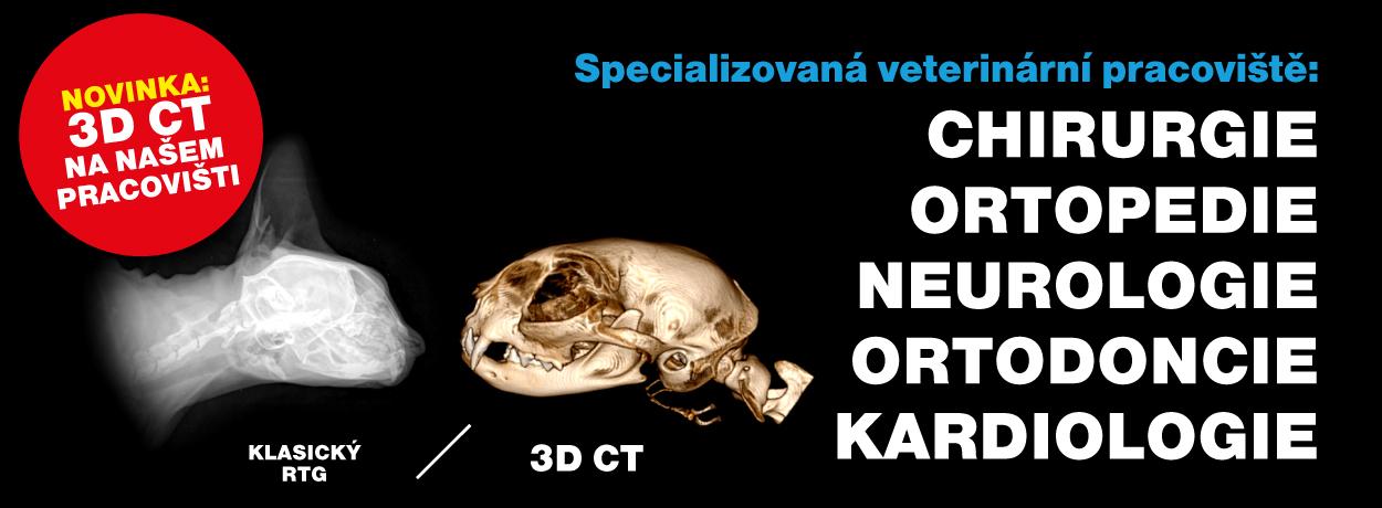 Výkonný a přesný CT přístroj pro veterinární medicínu
