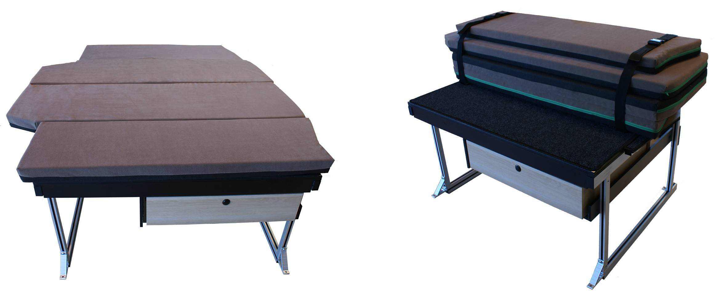 Složené postele v obytném voze od EASTWANDER, s.r.o. Zlínsko