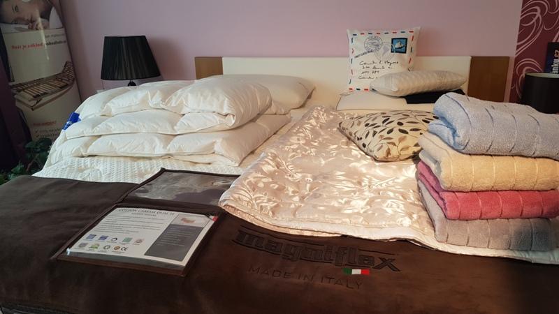 Bytový textil, povlečení, polštáře, přikrývky - showroom Boskovice
