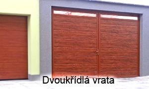 Privátní dvouřkřídlá garážová vrata - AutoDOOR Uherský Brod
