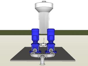Hlídání a řízené čerpání vodojemů - SATTURN HOLEŠOV