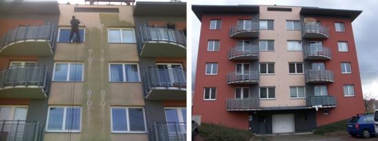 Ochrana povrchu fasád proti vlhkosti a znečištění