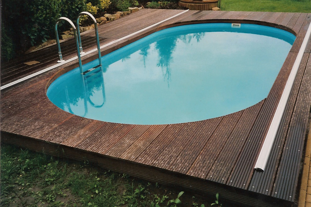Polypropylenový zapuštěný bazén oválného typu
