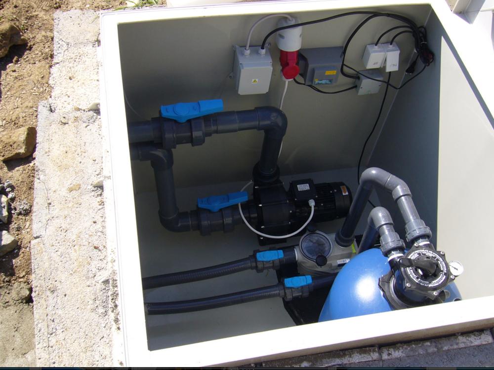 Filtrační šachta sloužící k umístění filtrační jednotky