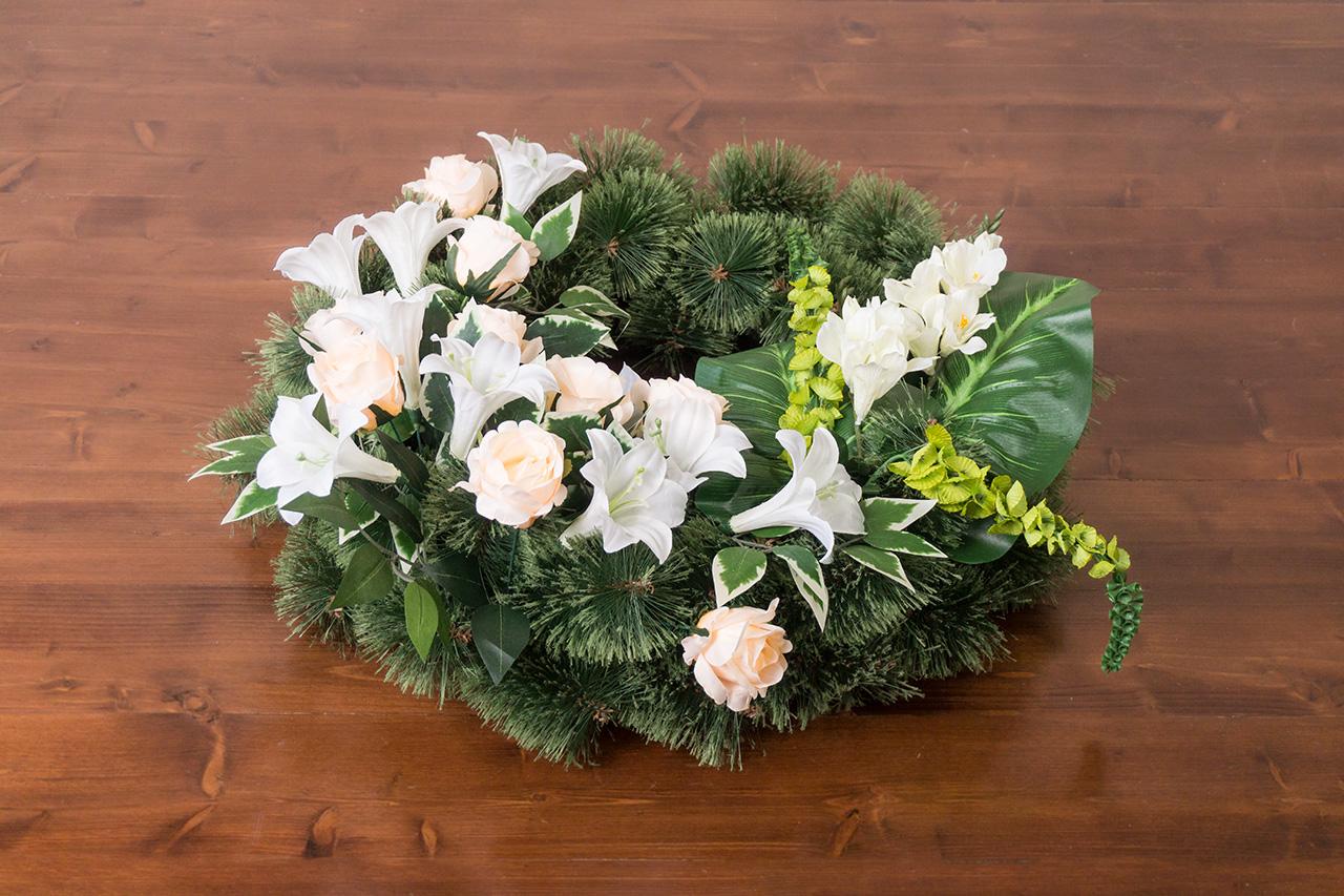 Vazba pohřebních věnců, květinová výzdoba
