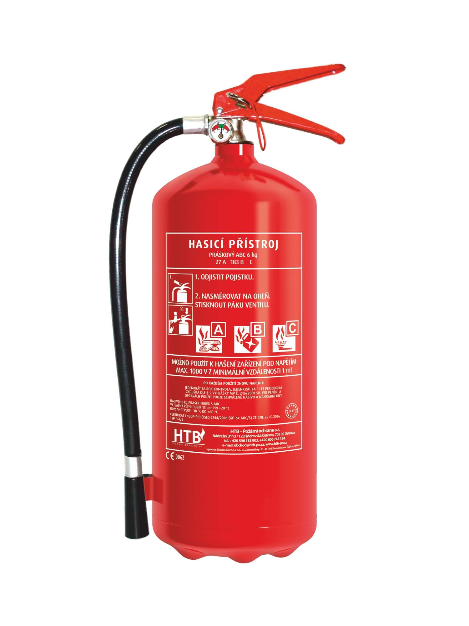 Maloobchodní i velkoobchodní prodej hasicích přístrojů