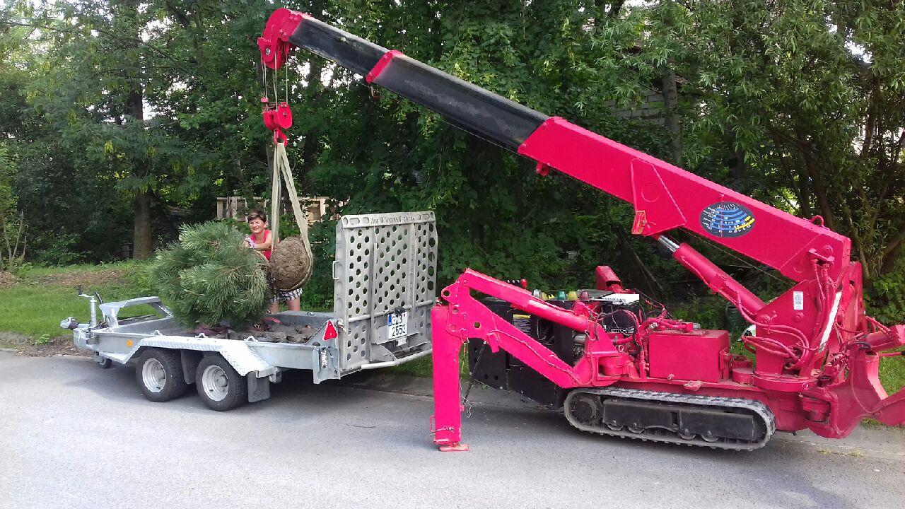 Přemístění břemen pomocí minijeřábu - pronájem Ostrava