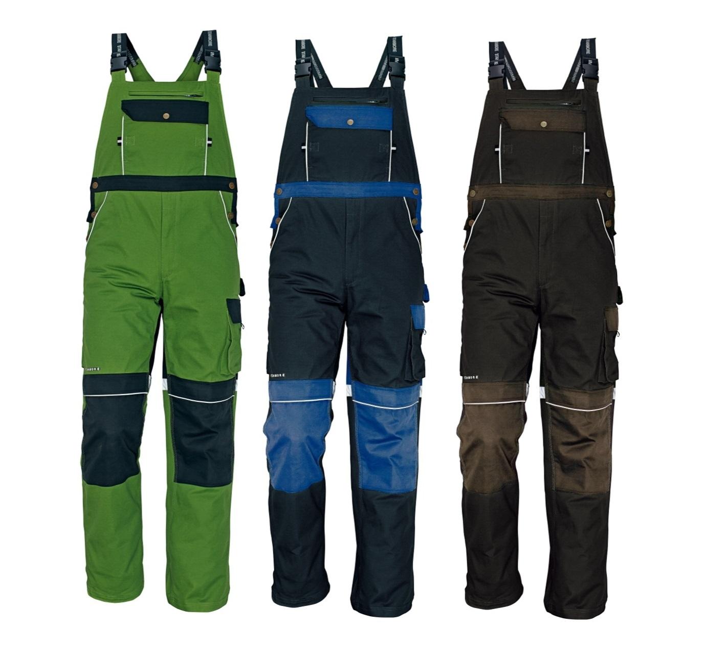 Pracovní kalhoty s laclem v internetovém obchodě
