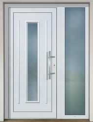 Vstupní plastové dveře Slovaktual s přísvětlíkem