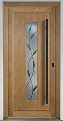 Hliníkové vchodové dveře s vkládanou výplní HPL