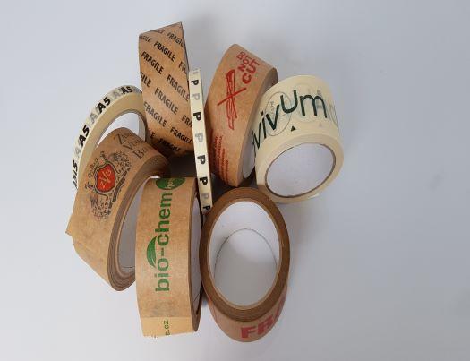 Ekopásky - papírové samolepicí pásky s potiskem i bez
