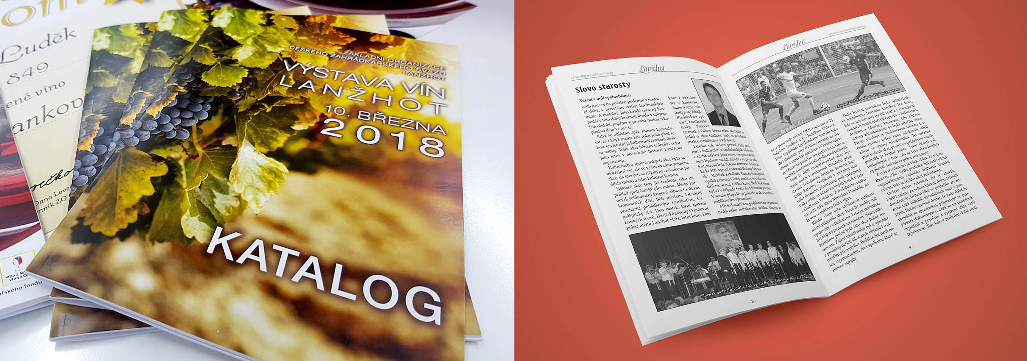 Tisk letáků, brožur, plakátů, vizitek, kalendářů, katalogů