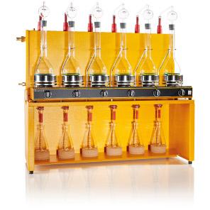 Kjeldahl skleněná destilační aparatura od výrobce GERHARDT