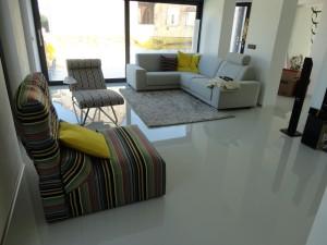 Pryskyřičné lité podlahy do interiérů rodinných domů