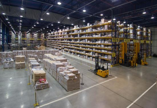Rozsáhlé skladové kapacity v logistickém skladu TQM - holding s.r.o. v Opavě