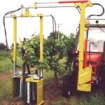 Ometače kmínků ve vinohradu, vinohradnická technika