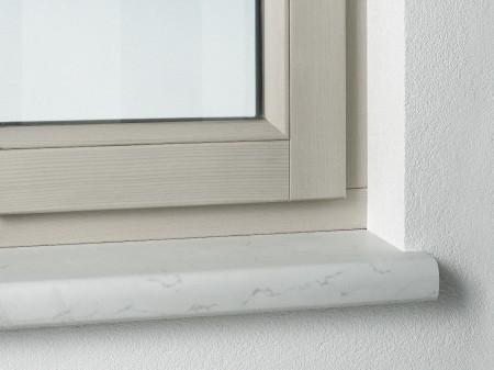 Okenní interiérové dřevotřískové parapety Helolit