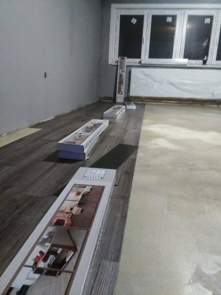 Pokládka marmolea, linolea, PVC, laminátových a vinylových podlah