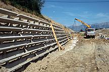Betonové opěrné stěny Ruwena - výroba, dodání