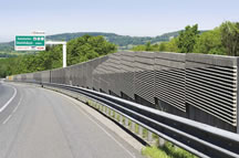 Výroba betonových protihlukových stěn Faseton