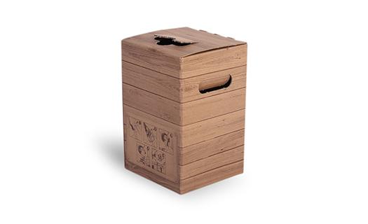 Bag-in-box systém, krabice s retro potiskem