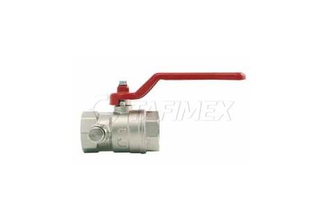 Nerezový kulový ventil s odvodněním