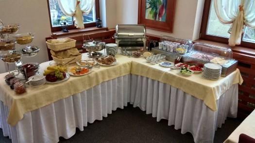 Snídaně v hotelu IBERIA v centru Opavy