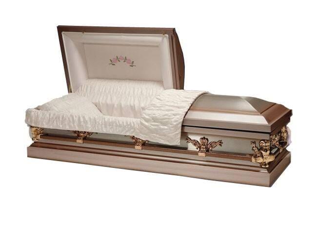Rakve, urny, smuteční věnce a kytice, hřbitovní doplňky