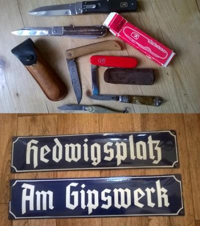 Sběratelství, výkup starých cedulí, zavíracích nožů