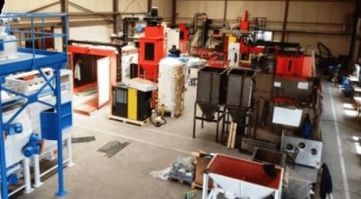Výroba tryskacích zařízení, metacích kol