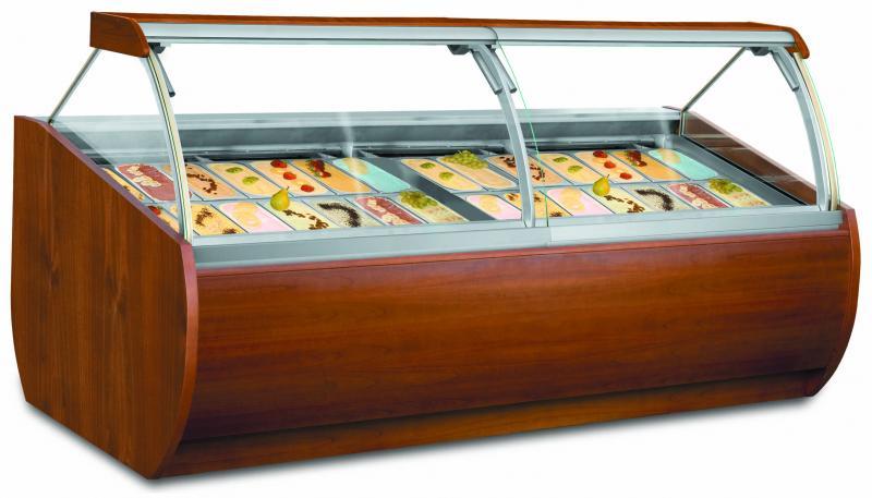 Stylové konzervátory zmrzliny pro cukrárny či kavárny