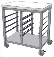 Praktické nerezové vozíky na nádobí i tácy