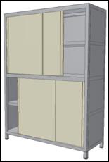 Nerezové regály, police a skříňky pro vybavení kuchyní