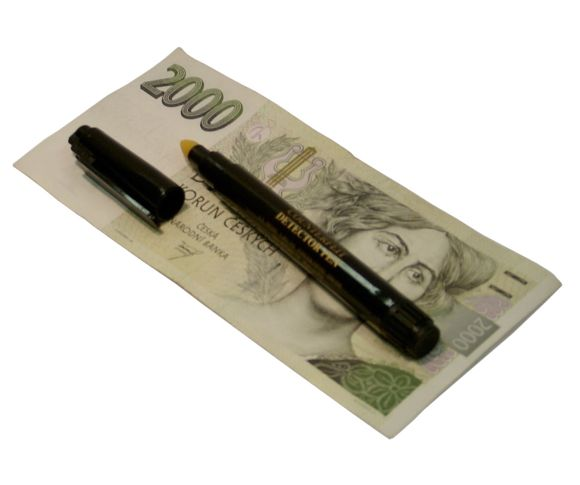 Chemický tester pravosti bankovek