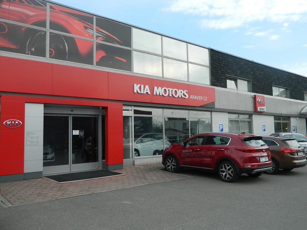 Prodej osobních vozů značky Kia - ARAVER CZ, s.r.o., Uherské Hradiště